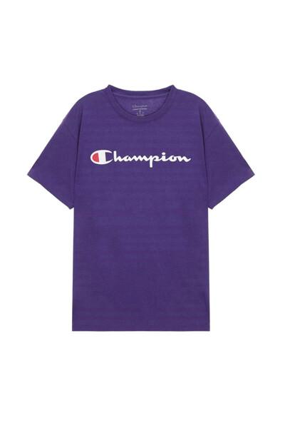 [US] Champion 로고 Classic Jersey 반팔 티셔츠 (NORMAL PURPLE) CKTS0E005U2