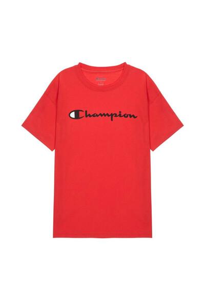 [US] Champion 로고 Classic Jersey 반팔 티셔츠 (NORMAL RED) CKTS0E005R2