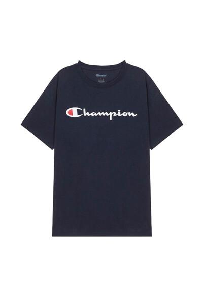 [US] Champion 로고 Classic Jersey 반팔 티셔츠 (NORMAL NAVY) CKTS0E005N2