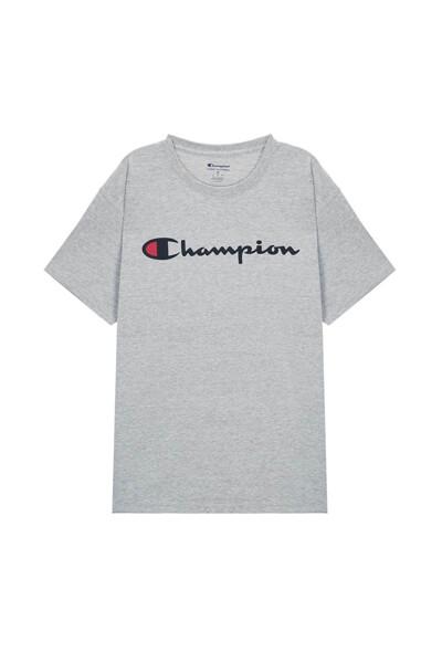 [US] Champion 로고 Classic Jersey 반팔 티셔츠 (LIGHT GREY) CKTS0E005G1