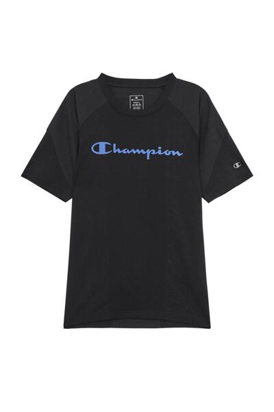 [EU] 배색 스포츠 반팔 티셔츠 (BLACK) CKTS0E045BK