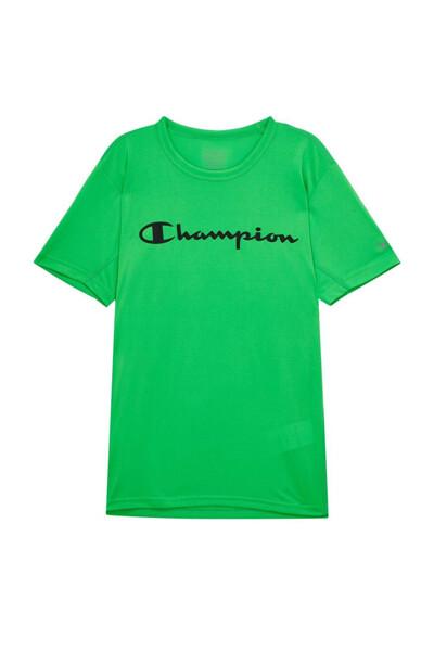[EU] Champion 로고 스포츠 반팔 티셔츠 (NORMAL GREEN) CKTS0E048E2