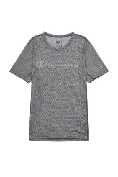 [EU] Champion 로고 스포츠 반팔 티셔츠 (DARK GREY) CKTS0E048G3