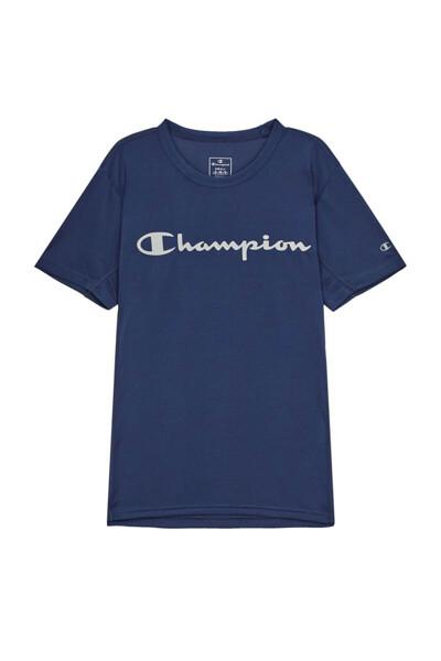 [EU] Champion 로고 스포츠 반팔 티셔츠 (LIGHT NAVY) CKTS0E048N1
