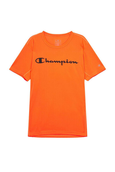 [EU] Champion 로고 스포츠 반팔 티셔츠 (NORMAL ORANGE) CKTS0E048O2