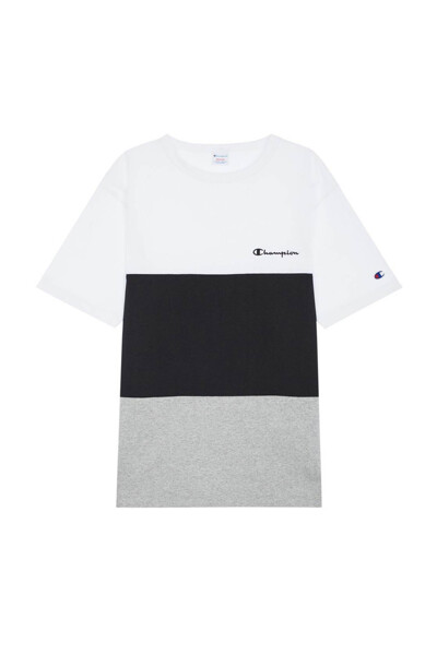 [ASIA] 컬러 블록 반팔 티셔츠 (BLACK1) CKTS0E324BA