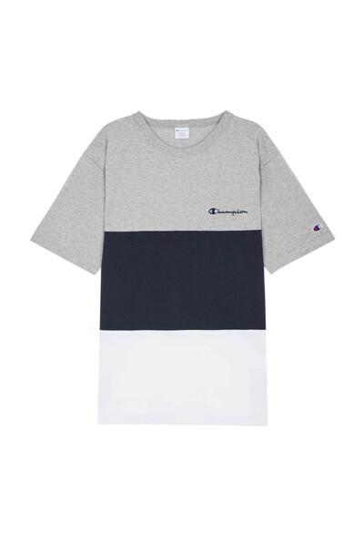 [ASIA] 컬러 블록 반팔 티셔츠 (NORMAL NAVY) CKTS0E324N2
