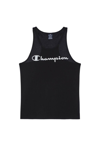 [EU] Champion 로고 슬리브리스 (BLACK) CKTS0E040BK