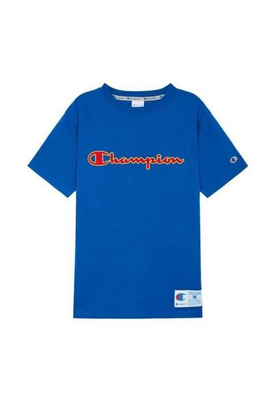 [ASIA] 아웃라벨 Champion 로고 반팔 티셔츠 (DARK BLUE) CKTS0E223B3