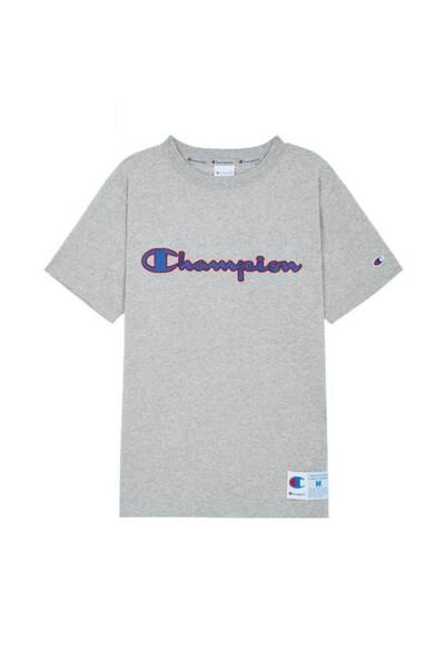 [ASIA] 아웃라벨 Champion 로고 반팔 티셔츠 (NORMAL GREY) CKTS0E223G2