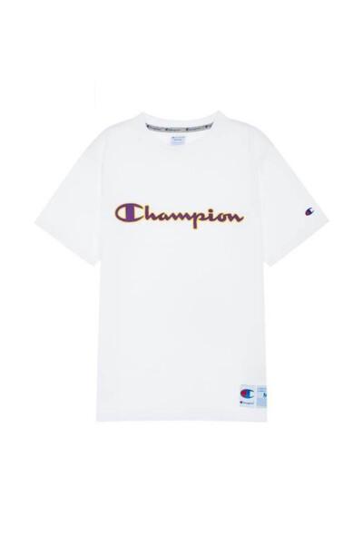 [ASIA] 아웃라벨 Champion 로고 반팔 티셔츠 (WHITE) CKTS0E223WT