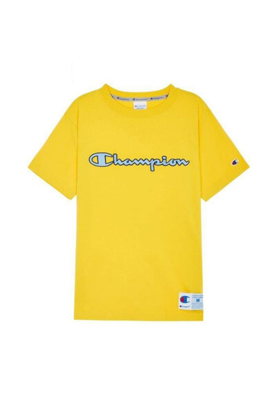 [ASIA] 아웃라벨 Champion 로고 반팔 티셔츠 (NORMAL YELLOW) CKTS0E223Y2