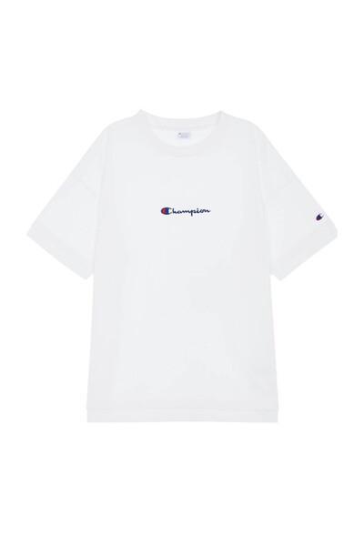 [ASIA] 레이어드 Small로고 반팔 티셔츠 (WHITE) CKTS0E328WT