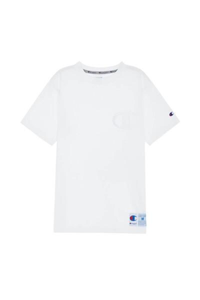 [ASIA] 빅 C자수로고 반팔 티셔츠 (WHITE) CKTS0E234WT