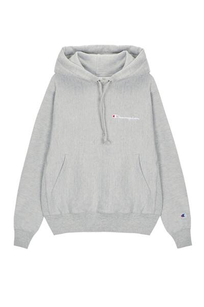 [US] Small Champion 로고 Reverse Weave® 후드 티셔츠 (LIGHT GREY) CKTS0E602G1