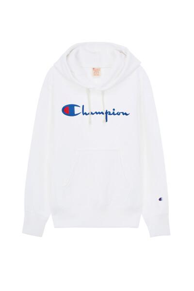 [EU] Champion 로고 Reverse Weave® 후드티 (WHITE) CKTS0E640WT
