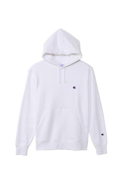 [ASIA] 화이트 로고자수 면 후드티셔츠 (WHITE) CKTS0E633WT