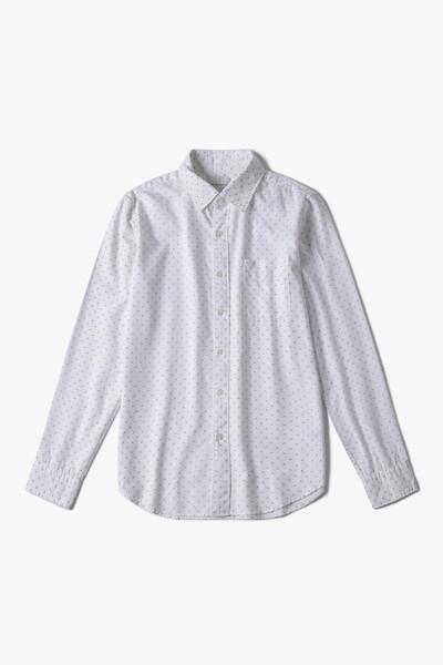 [남성] 코튼 레귤러핏 포켓 패턴 셔츠