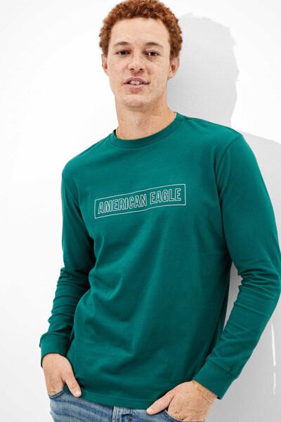 [남성] 코튼 로고 레터링 크루넥 티셔츠