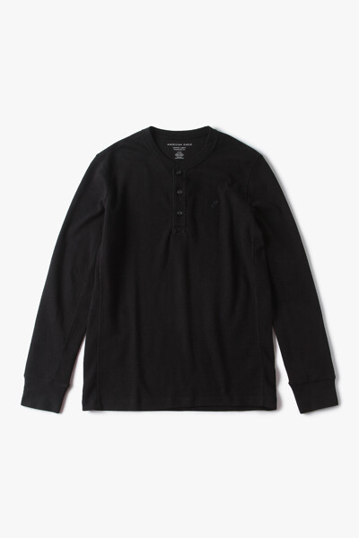 [남성] 면혼방 더말 헨리넥 티셔츠