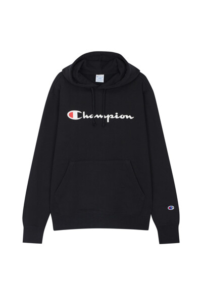 [ASIA] Champion 로고 베이직 후드티 (BLACK) CKTS0F727BK