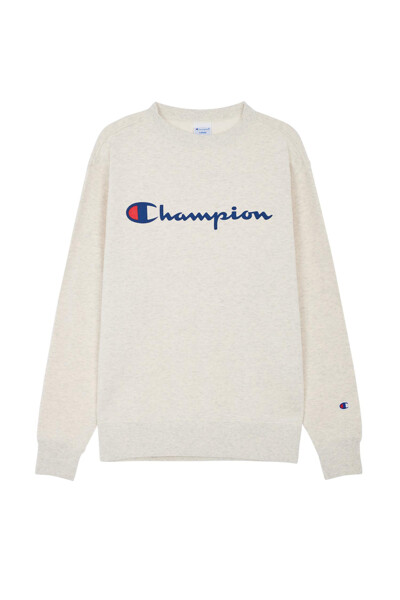 [ASIA] Champion 로고 베이직 맨투맨 (CREAM) CKTS0F627CR
