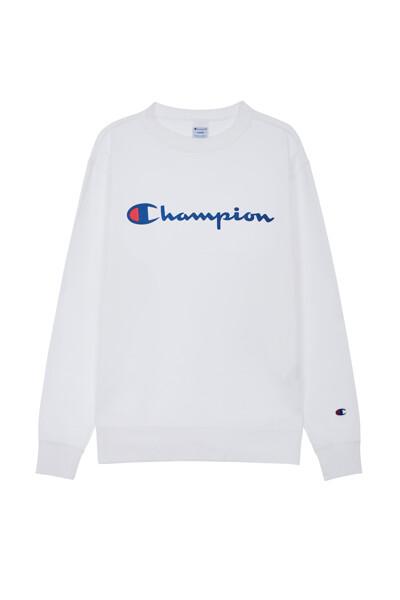 [ASIA] Champion 로고 베이직 맨투맨 (WHITE) CKTS0F627WT
