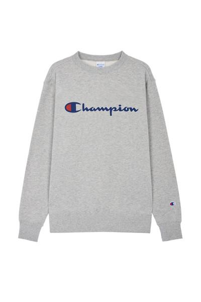 [ASIA] Champion 로고 베이직 맨투맨 (LIGHT GREY) CKTS0F627G1