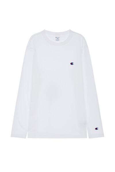 [ASIA] C로고 긴팔 티셔츠 (WHITE) CKTS0F526WT