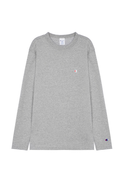 [ASIA] C로고 긴팔 티셔츠 (LIGHT GREY) CKTS0F526G1