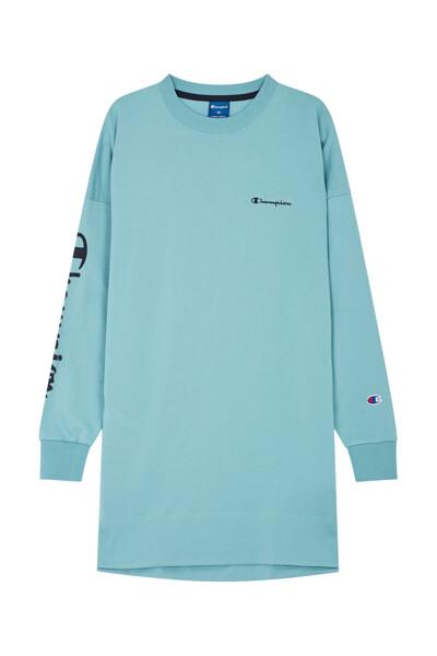 [ASIA] 여성 Champion 로고 롱 티셔츠 (DARK GREEN) CKTS0F671E3