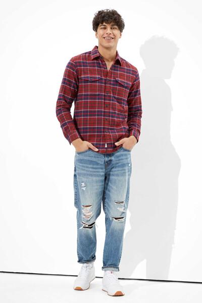 [남성] 고리 플래드 긴소매 셔츠