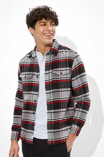 [남성] 체크 포켓  셔츠