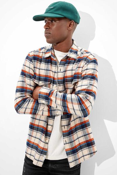 [남성] 코튼 플래드 긴소매 셔츠