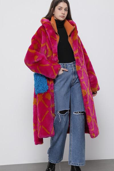페이크퍼 포켓  코트