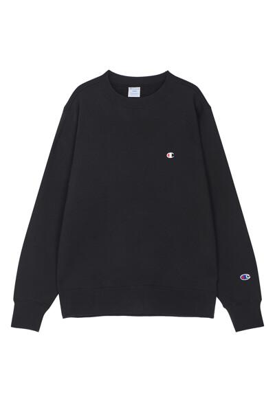 [ASIA] C로고 베이직 기모 맨투맨 (BLACK) CKTS0F827BK