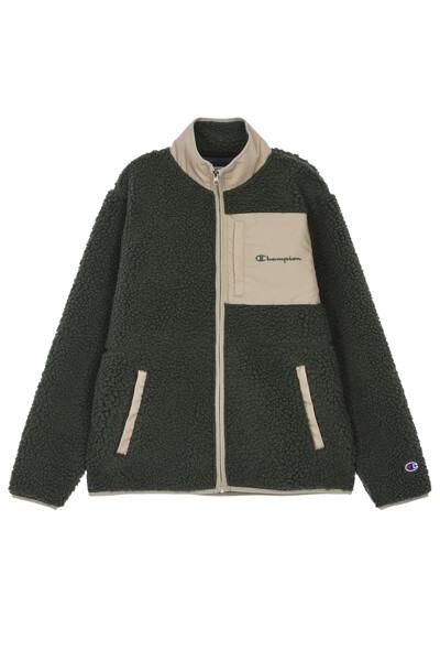 [ASIA] Champion로고 배색 Fleece 자켓 (NORMAL KHAKI) CKJA0F821K2