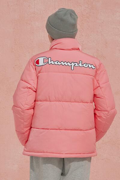 [EU] 여성 백 Champion 로고 숏 패딩 점퍼 (NORMAL PINK) CKJU0F880P2