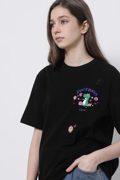플라워 플레이 디노 반팔 티셔츠