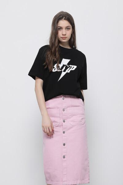 로고 크루넥 티셔츠