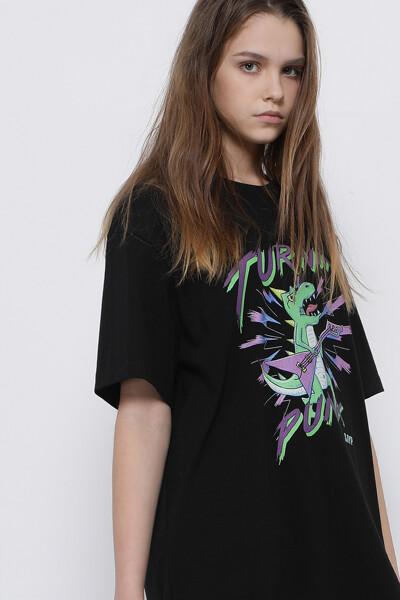 펑크 디노 반팔 티셔츠