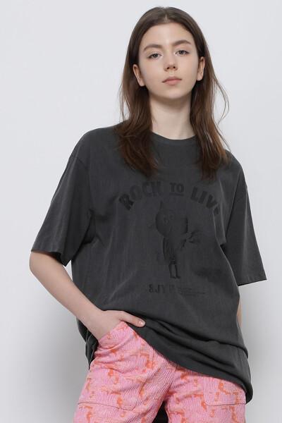 록 라이브 디노 크루넥 티셔츠