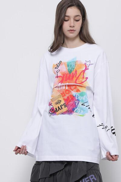콜라주 롱 슬리브 티셔츠
