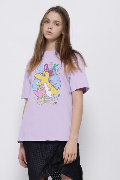 록 소울 디노 티셔츠