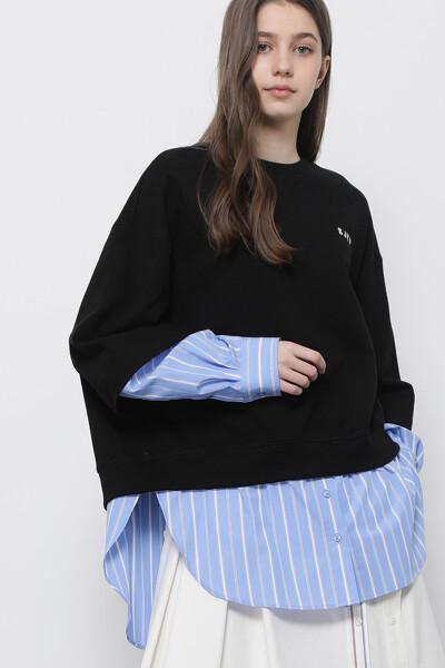 셔츠 믹스 스웨트셔츠