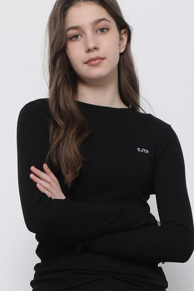 베이직 하프넥 티셔츠