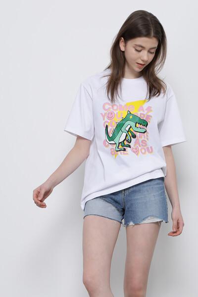 디노 프린트 반팔 티셔츠
