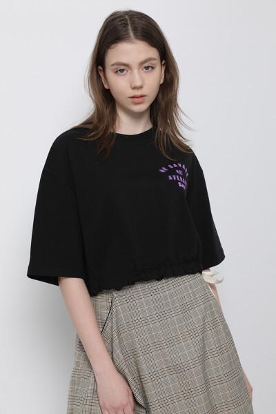 레터링 프린트  티셔츠
