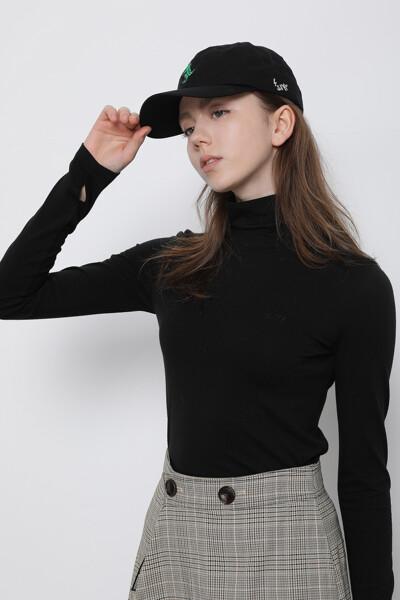 면혼방 베이직 터틀넥 티셔츠