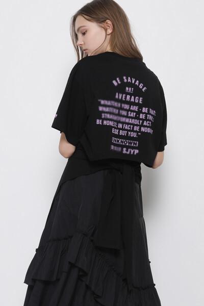 크롭 백 티셔츠